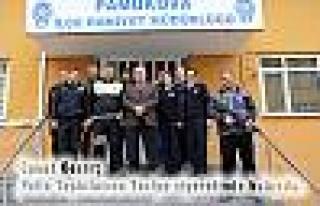 Başkan Cevat Keser, Polislere Taziye Ziyaretinde...