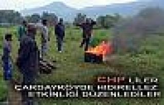 CHP'liler Hıdırellez etkinliğini yağmura rağmen...