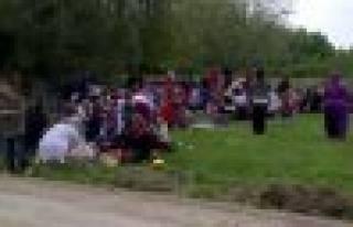 Özbek köylüleri dayanışma kaynaşma pilavında...
