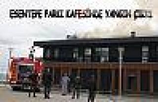 Pamukova Esentepe Sosyal Tesislerinde yangın çıktı.