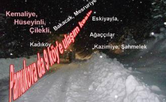 Pamukova da 9 köyle ulaşım sağlanamıyor.