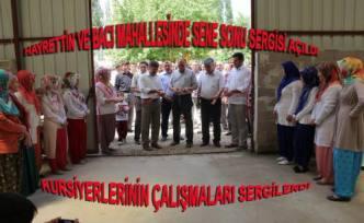 Hayrettin ve Bacı mahallelerinde Ahşap Boyama çalışmaları sergisi açıldı.