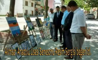 Pamukova Akhisar Anadolu Lisesi öğrencilerinin yaptıkları resimler sergilendi.