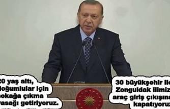 Bu gece 30 büyükşehir ve Zonguldak giriş çıkışlara yasaklanıyor