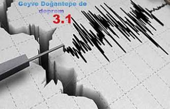 Geyve Doğantepe de 3.1 şiddetinde deprem oldu.