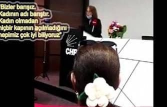 Azize Çeroğlu, Kadınların Susturulamayacağını söyledi.