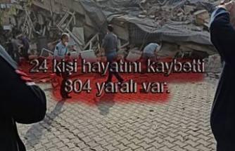 Depremde 24 kişi hayatını kaybetti, 804 yaralı var.