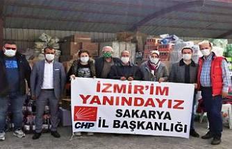 CHP'nin yardımları İzmir'e ulaştı