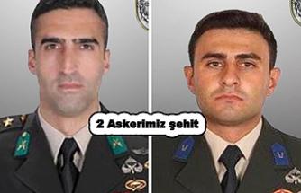 Kuzey Irak bölgesinde 2 askerimiz şehit oldu.