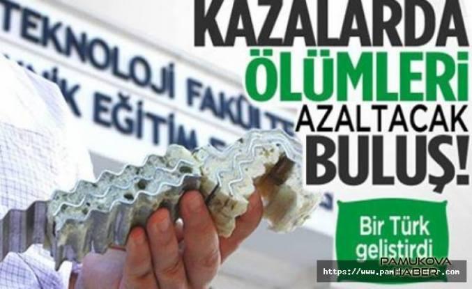Trafik Kazalarında ölümleri azaltacak buluşu bir Türk yaptı.