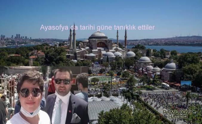 Ayasofya da namaz kılmak için binlerce kişi İstanbul'a gitti.