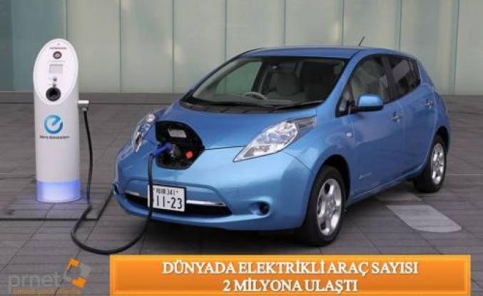 Dünya da Elektrikli Araç Sayısı 2 Milyona Ulaştı